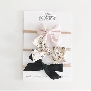 LITTLE POPPY CO Girl's Sept. '18 Inspired Bow Set